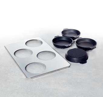 Набор малых форм для жарения и выпекания (количество: 4, включая поднос) 60.73.286 от бренда Rational в Украине фото 2